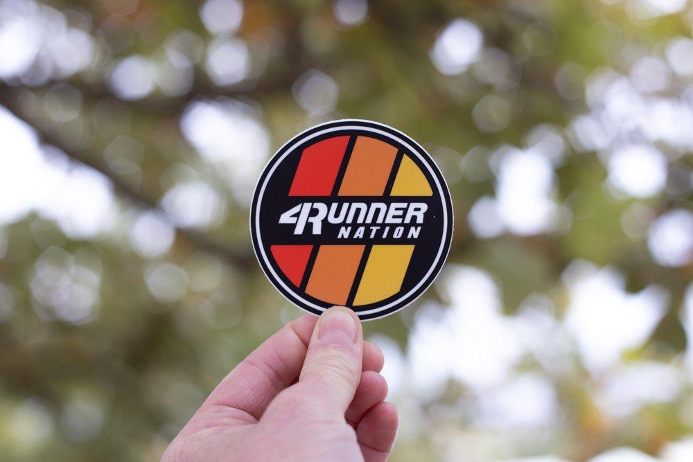 4Runner Nation Classic Sticker (Heritage Toyota Stripes)