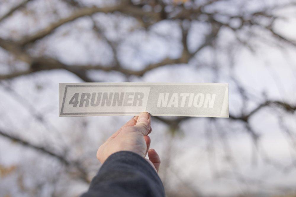 4Runner Nation Slant Decal