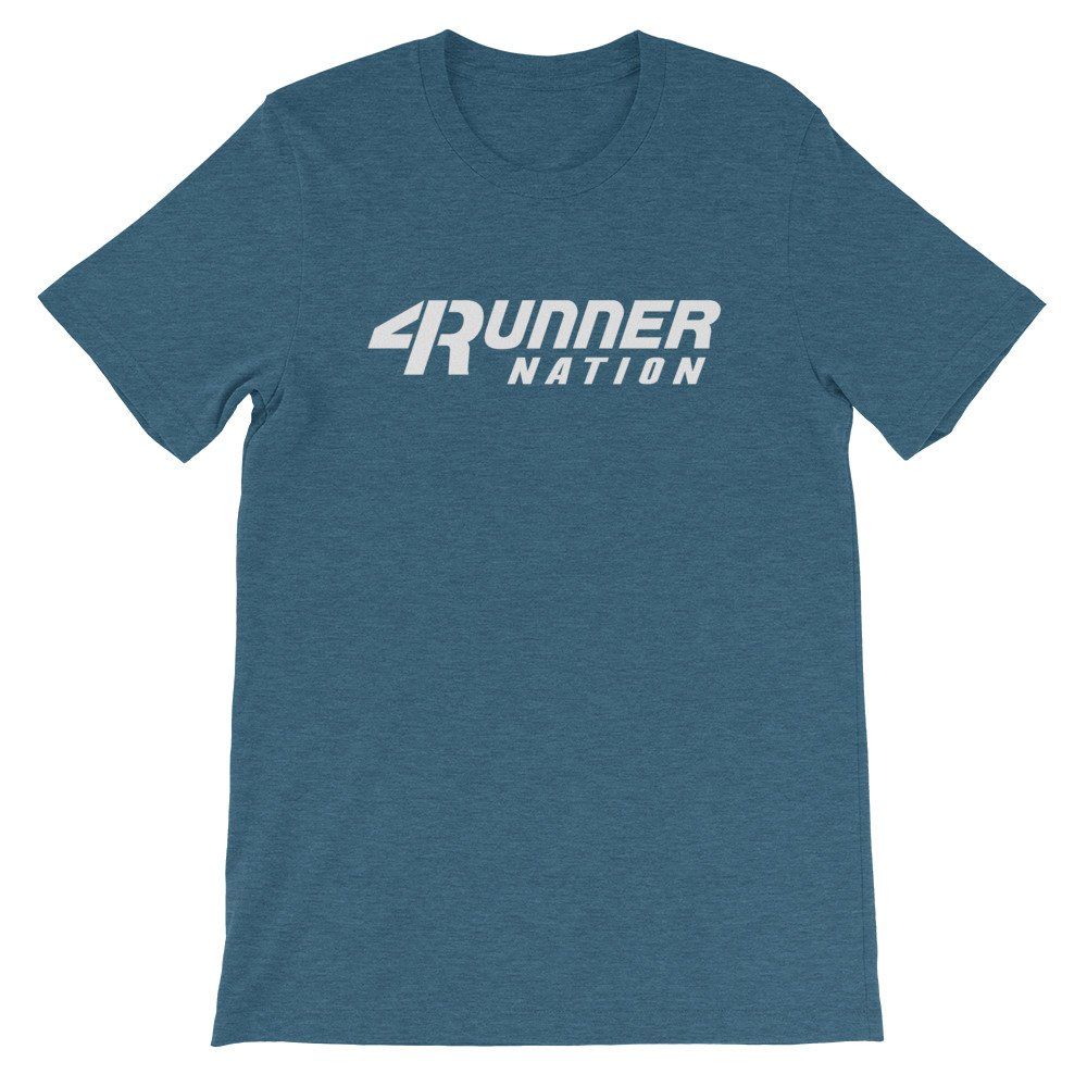 Toyota 4Runner Nation Classic Text T-Shirt (Heather Blue)