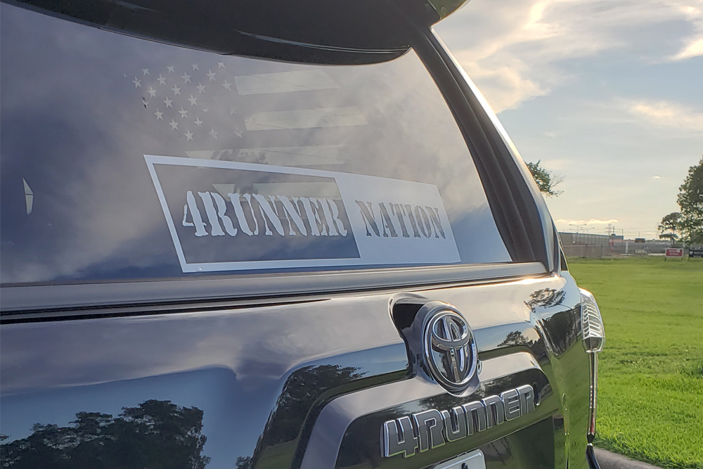 Large 4Runner Decal on Front or Back Windshield