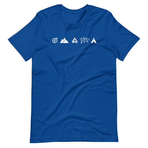 Blue Camping Overlanding and Offroad 4Runner T-Shirt