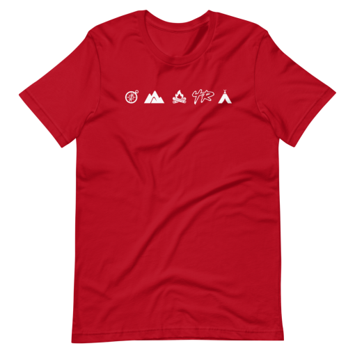 Red Camping Overlanding and Offroad 4Runner T-Shirt