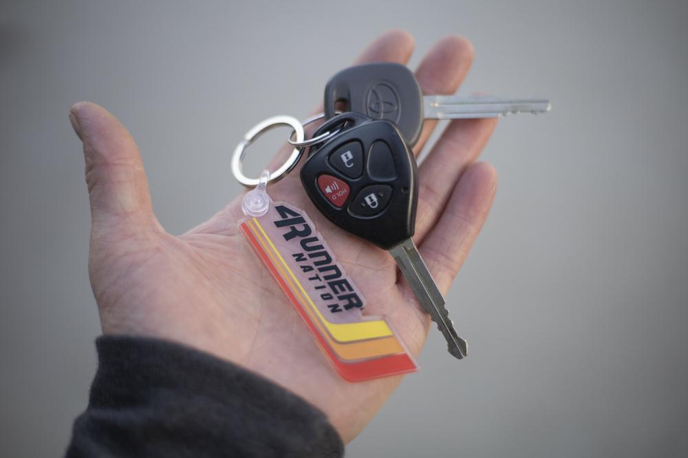 4Runner Nation Stripes Keychain - Toyota Heritage and Vintage Stripes Keychain