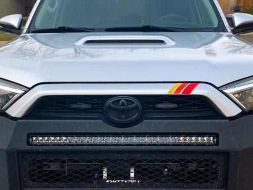 """(6"""") Ivan Stewart TRD Stripes Toyota Grille Decals"""