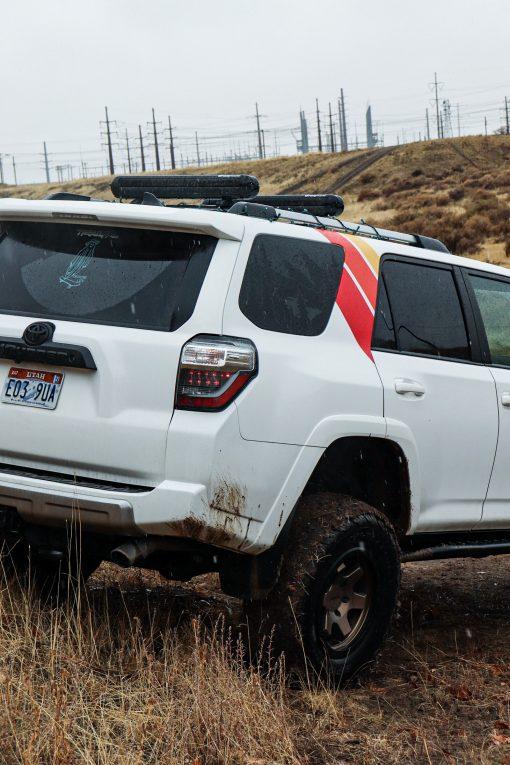 TRD Stripe Decals on C-Pillar for Toyota 4Runnert