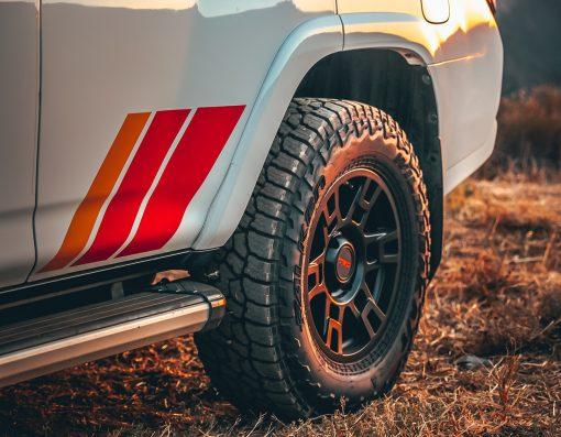 "TRD Stripe Decals on C-Pillar for Toyota 4Runnert (Extra Large 36"")"